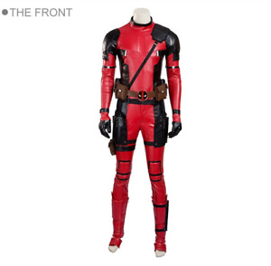 Deadpool Cosplay Costume Updated Version Deluxe Outfit Halloween