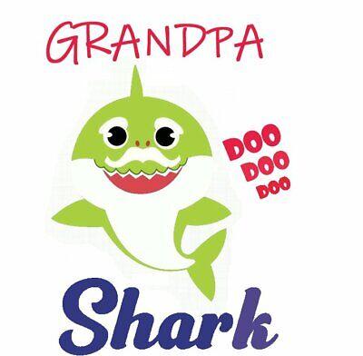 :::::::::::::::::GRANDPA SHARK::::::::::::::::::::::T-SHIRT IRON ON TRANSFER