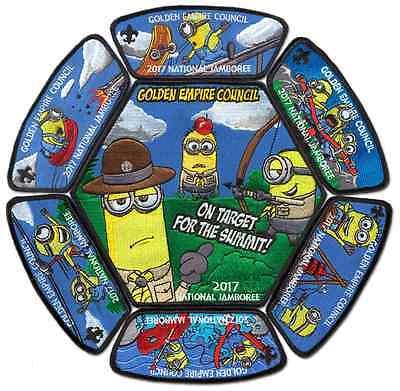 2017 Boy Scout Jamboree Golden Empire Council JSP CSP Minion Patch Badge Set BSA