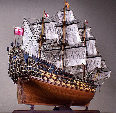 "HMS PRINCE 45"" wood model ship large scale sailing tall British boat"