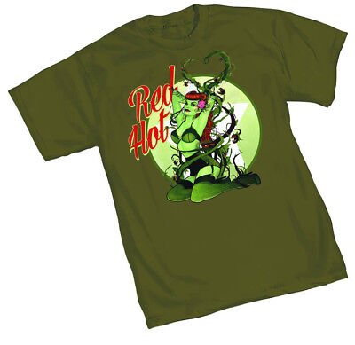 Poison Ivy Bombshell Red Hot mens t-shirt DC Comics (Hot Poison Ivy)