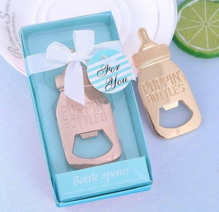12pcs Bottle Opener Baby Shower Party Favors Poppin Bottles Boy Christening