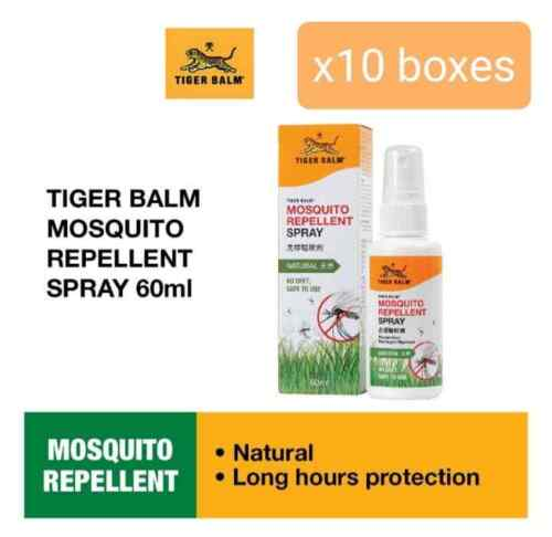 10 boxes x Tiger Balm Mosquito Repellent Spray 60ml free shipping by DHL Express