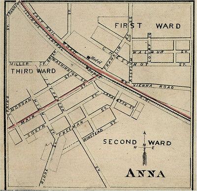 Anna Illinois Union County IL 1876  Map Genealogy