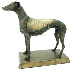 NEW! Large Greyhound Bronze Statue Figure