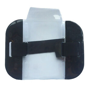 High Visibility Security Arm Band ID Holder-Black
