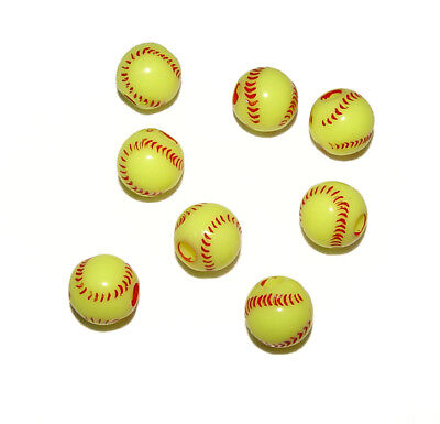 SoftBall Beads 60pc for school sports jewelry necklaces bracelets kids crafts](Beads For Kids)