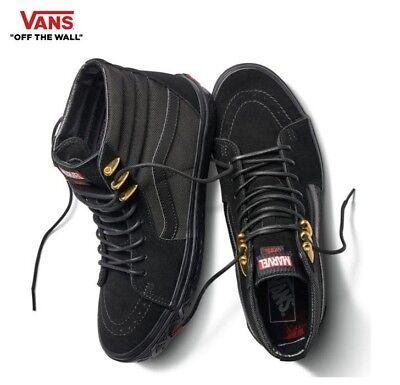 VANS X MARVEL Sk8-Hi Black Panther Black & Gold Skate Shoes,Sneakers  Men's