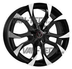 Wolfrace Assassin 20″ Gloss Black / Polished Tips Alloy Wheels VW T5 T5.1 T6