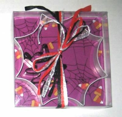 HALLOWEEN Silver Spider Web & Black SPIDER Cookie Cutter Set of 2 NWT New ()