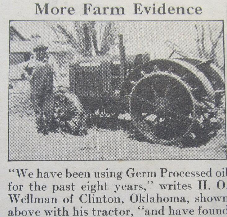 Dated Original 1938 Conoco Ad Photo Endorsed H O Wellman Clinton Oklahoma