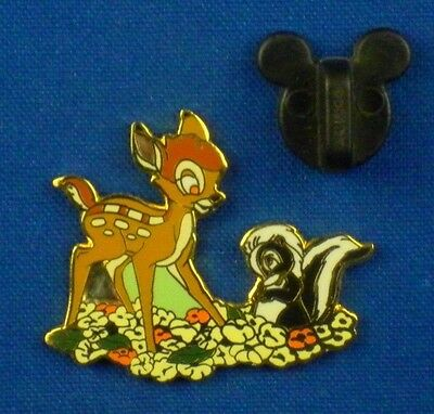 Bambi and Flower WDCC Sculpture Set Classics Collection Disney Pin # 1538