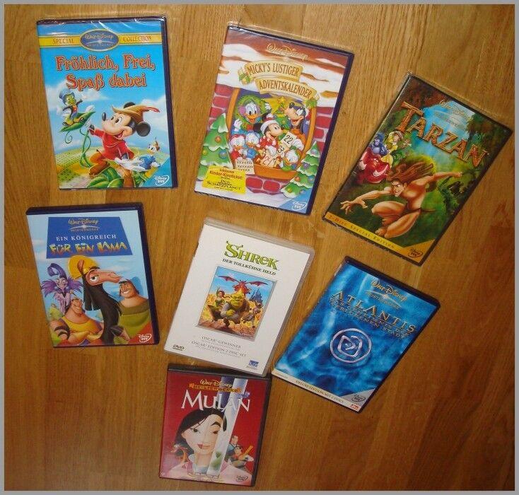 Disney DVD Sammlung - 7 DVD`s TOP Zustand - zum Teil OVP in Folie