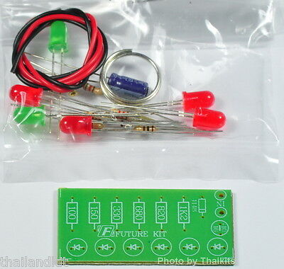 Audio Vu Meter 6 Leds Un-assembled Kit - No Need Power Supply Fk101