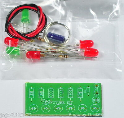 Audio Vu Meter 6 Led No Need Power Supply Unassembled Electronic Kit
