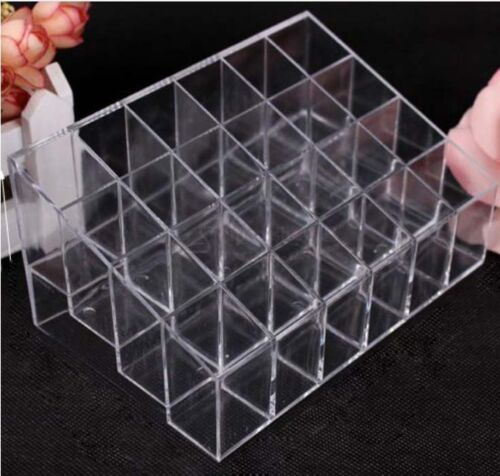 Clear-Acrylic-24-Lipstick-Holder-Display-Stand-Cosmetic-Organizer-Makeup-Case