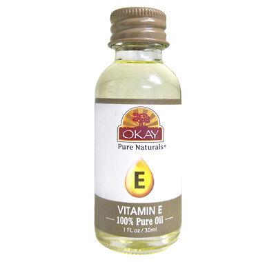 Okay Vitamin E 100  Pure Oil For Moisturizing Damaged Hair   Dry Skin 1Oz
