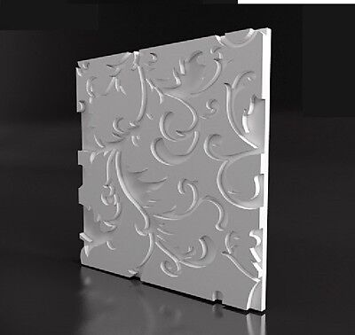 "**BUY 2 GET 1 FREE**  3D panels plastic MOLD for plaster and concrete ""PARTERRE"""