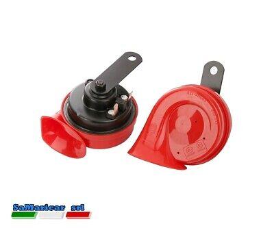 Set Par Trompetas Eléctrica HELLA 12V Color Rojo - Negro 3FH007424-801