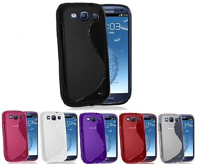 NEW S-LINE SAMSUNG GALAXY S3 I9300 GEL CASE + FREE SCREEN PROTECTOR I9300-gel