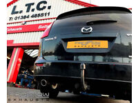 Proflow Exhausts Stainless Steel Custom Built middle and Rear System with Two Boxes for Mazda 5