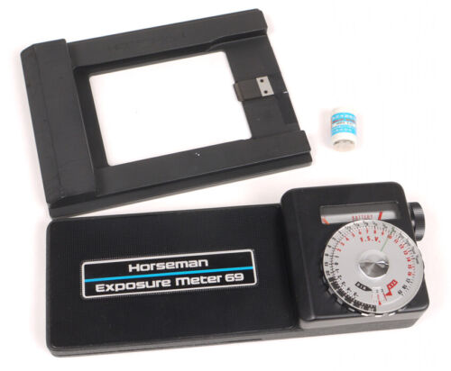Horseman Exposure Meter 69 w/4x5 Adapter - Tested/Working/Minty