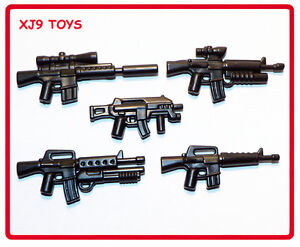 LEGO Custom Modern Warfare Special Forces Gun Pack for Army or Soldier Minifigs