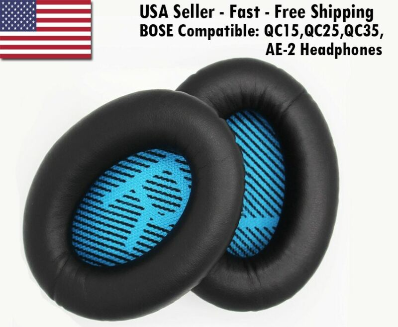 BOSE REPLACEMENT EAR PADS FOR BOSE QC15, QC25, QC35, AE2 HEADPHONES