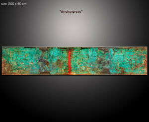 PAUL-SINUS-200x40cm-Kunst-Wandbilder-Bilder-Gemalde-direkt-aus-dem-Atelier