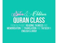 Quran classes with Tajweed, Tafseer and Translation for Children and Women