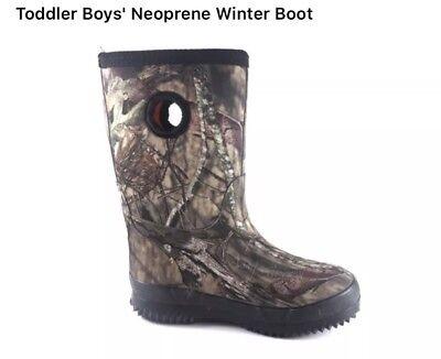 Mossy Oak Camouflage Mud Boots, Rain Boots, Hunting, Fishing Boots Kids Size 11