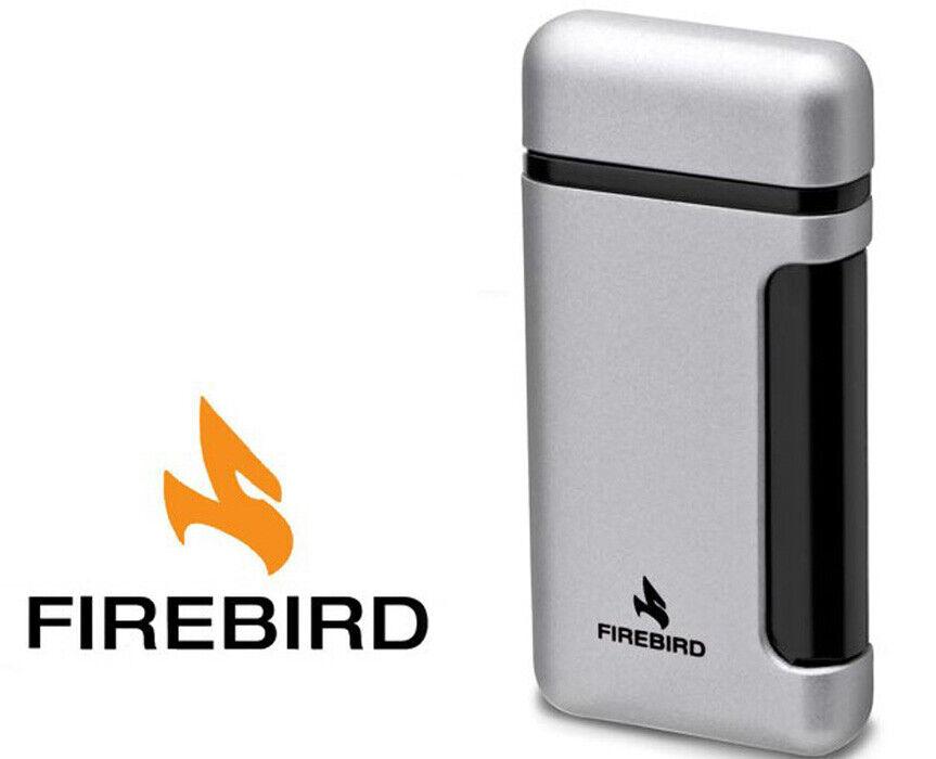 Firebird Sidewinder Silver Cigar Lighter Butane Single Torch
