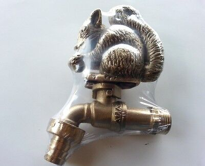 BRASS GARDEN TAP FAUCET SQUIRREL SPIGOT ANIMAL ...
