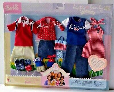 Barbie Happy Family Neighborhood Fashion Gift Set 2003 Midge Alan Ryan & Nikki