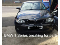Bmw 1 Series 2007 E87 Black Breaking for Parts