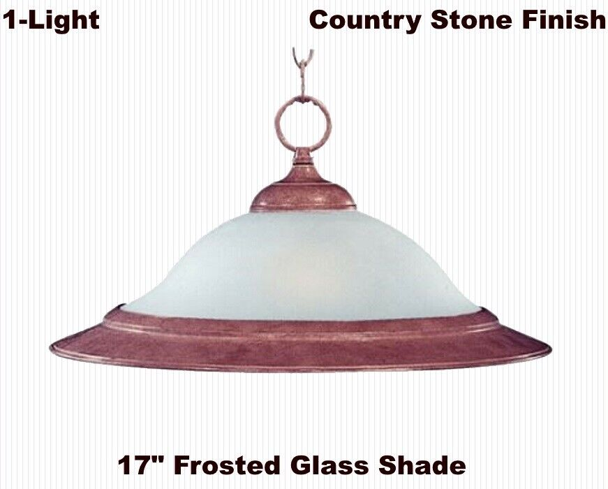 Ceiling Light Fixture  Hanging Chain Pendant  Country Stone