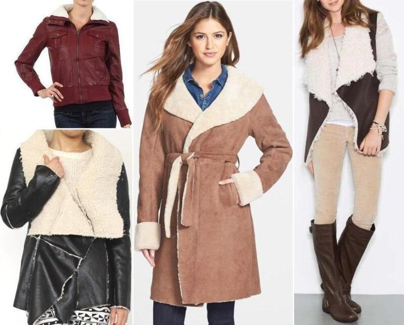 Women&39s Shearling Coats &amp Jackets | eBay