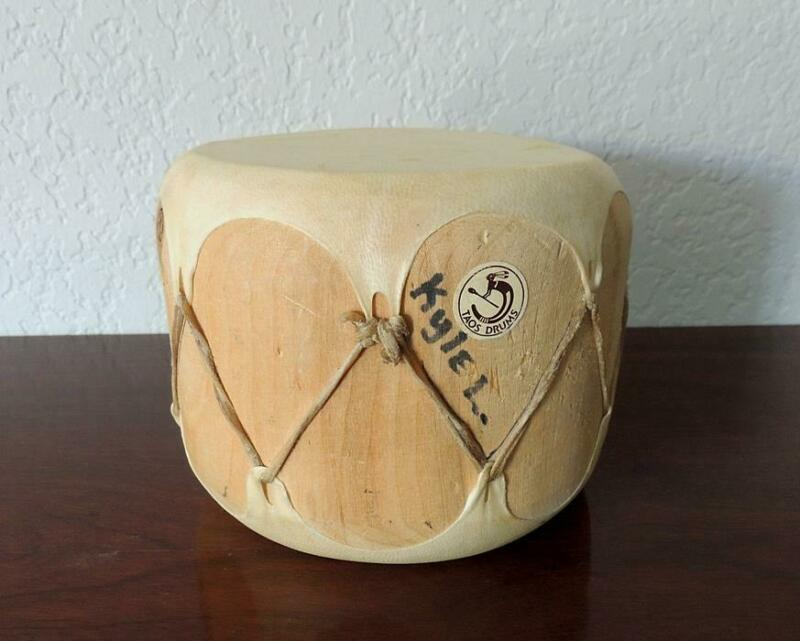 Taos Drum Co. Native American New Mexico w/Orig. Label & Signed