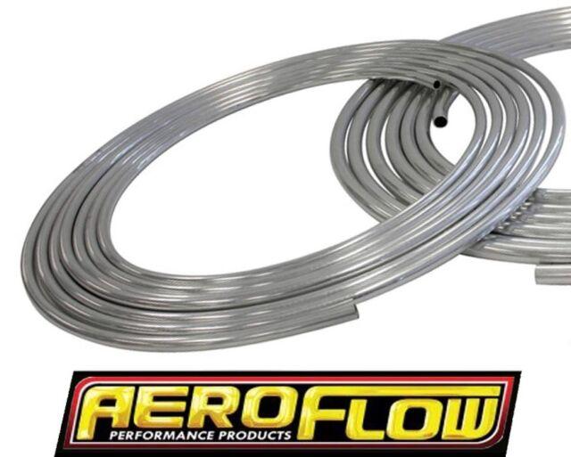 "AEROFLOW 1/2"" (12.7MM) STAINLESS STEEL HARD LINE 25 FOOT NATURAL AF66-3001SS"