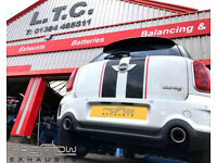 Proflow Exhausts Stainless Steel Tailpipe fitted to Mini S