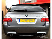 BMW 5 Series Estate Fitted with Proflow Stainless Steel Exhausts Middle/Rear with Twin Tailpipes