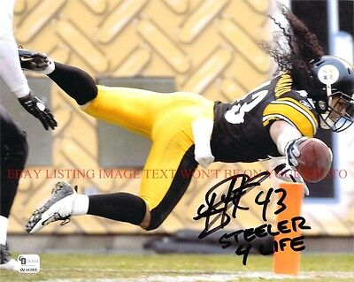 TROY POLAMALU STEELER FOR LIFE SIGNED AUTOGRAPH 8x10 RP PHOTO PITT STEELERS