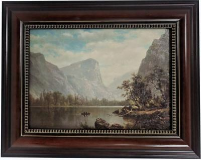 - A. Bierstadt Mirror Lake Yosemite Valley Custom Framed Canvas Transfer  18 x 22