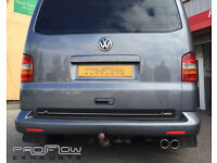 VW Transporter T5 fitted with Proflow Custom Stainless Steel Exhaust