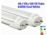 New LED T8 Tube 4ft 5ft 6ft Retrofit Fluorescent Replacement Milky Cover Cool White Lamp
