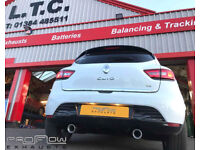 Custom Exhaust Renault Clio with stainless steel Dual Rear single tip tailpipes