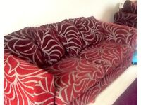 3 Seater Sofa and Cuddle Chair For Sale- £100
