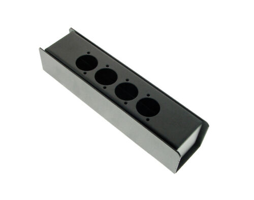 """Steel Project  Box  8"""" x 1-7/8"""" x 1 5/8"""" Pre-Punched for 5 """"D"""" Series XLR"""