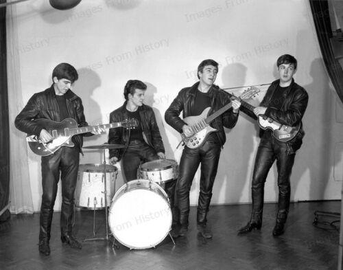 8x10 Print Beatles John Lennon Ringo Starr Paul McCartney Pete Best 1961 #PBBE
