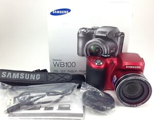about New Samsung WB100 16MP 26x Optical Zoom Digital Camera Red